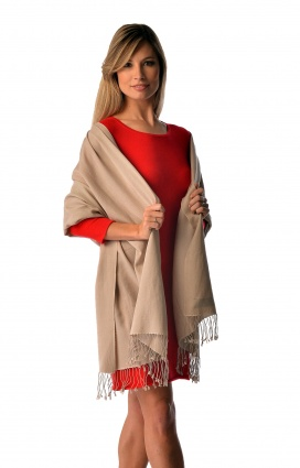 Cashmere and Silk Pashmina Wrap