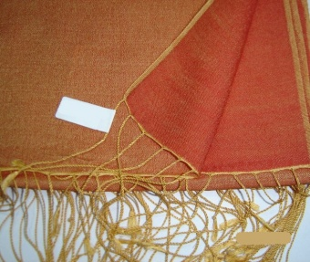 Two Tone Reversible Pashmina Wrap in Orange
