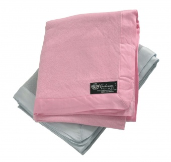Pure Cashmere Baby Blanket in Baby Pink