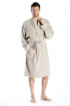 Pure Cashmere Knee Length Robe for Men