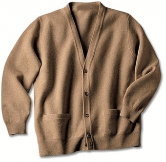 Pure Cashmere Cardigan in Plus Size for Men