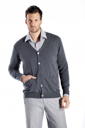 Pure Cashmere Cardigan for Men