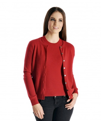 Pure Cashmere Cardigan Twin Set Sweater for Women