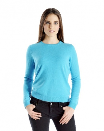 Discount clothing stores Pure Cashmere Crew Neck Sweater for Women