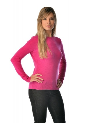 Spring Sweater for Women - Pure Cashmere Crew Neck
