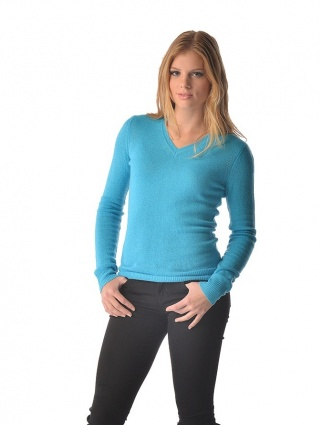 Spring Sweater for Women - Pure Cashmere V-Neck