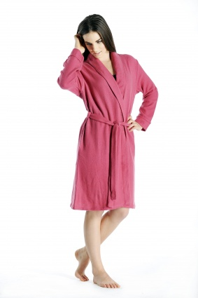 Pure Cashmere Knee Length Robe for Women