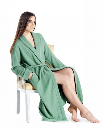 Pure Cashmere Full Length Robe for Women