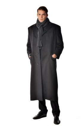 Pure Cashmere Full Length Overcoat for Men