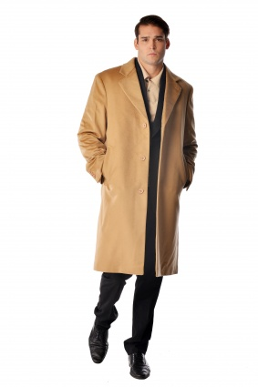 Pure Cashmere Knee Length Coat for Men