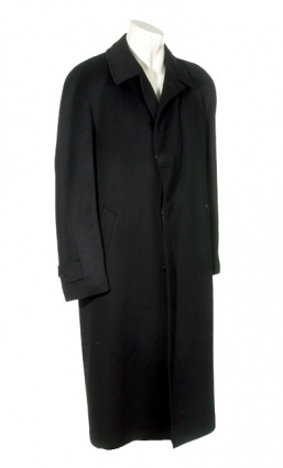 Pure Cashmere Full Length Overcoat with Raglan Sleeves for Men