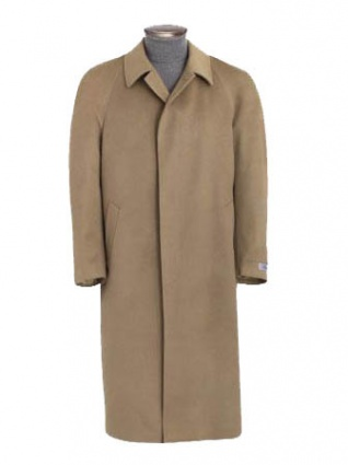 Cashmere Blend 4 Button Full Length Overcoat for Men