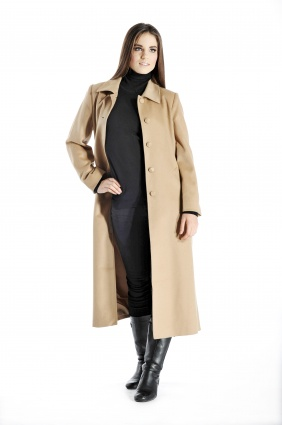 Pure Cashmere Full Length Coat for Women