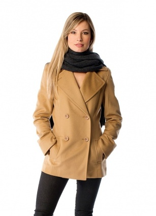 Cashmere Pea Coat for Women