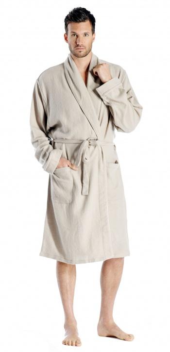 Cashmere Boutique Pure Cashmere Knee Length Robe for Men