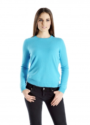 Pure Cashmere Crew Neck Sweater for Women