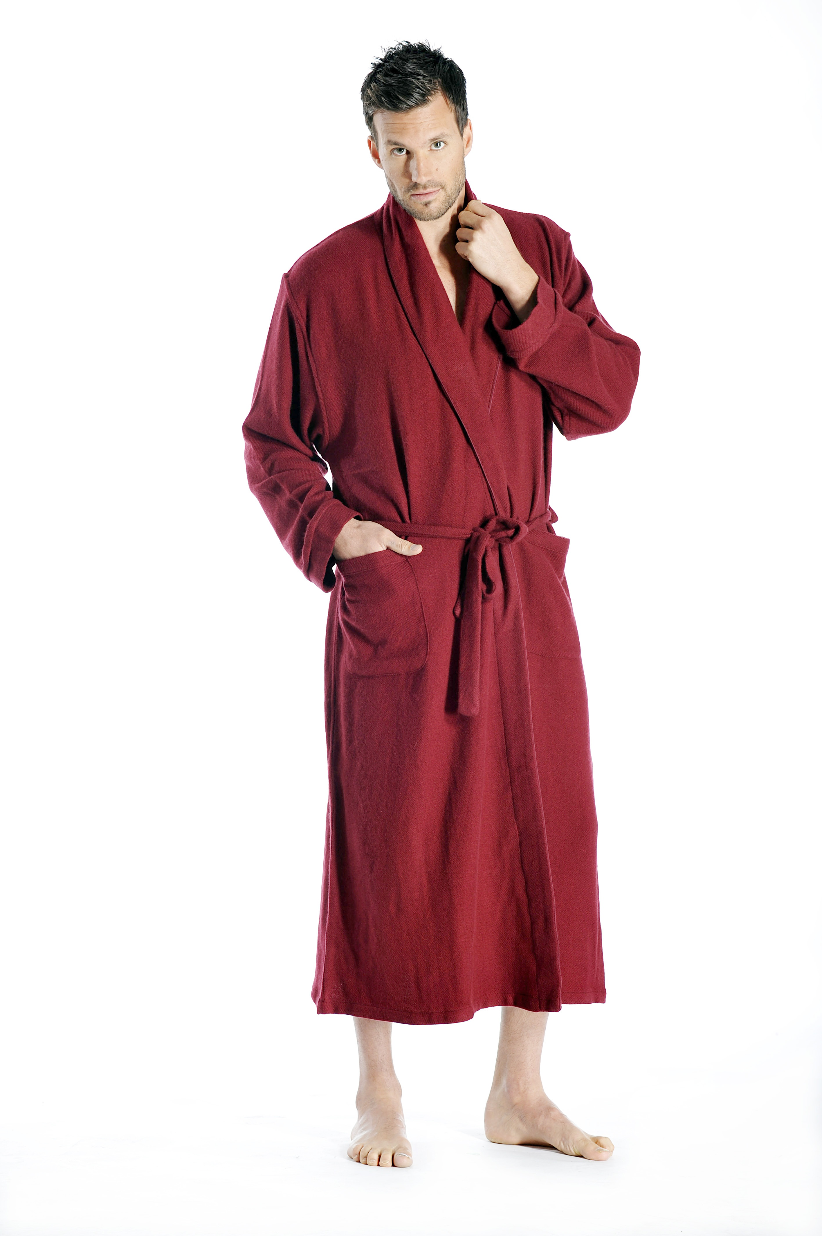 Cashmere Boutique Pure Cashmere Full Length Robe for Men at Sears.com