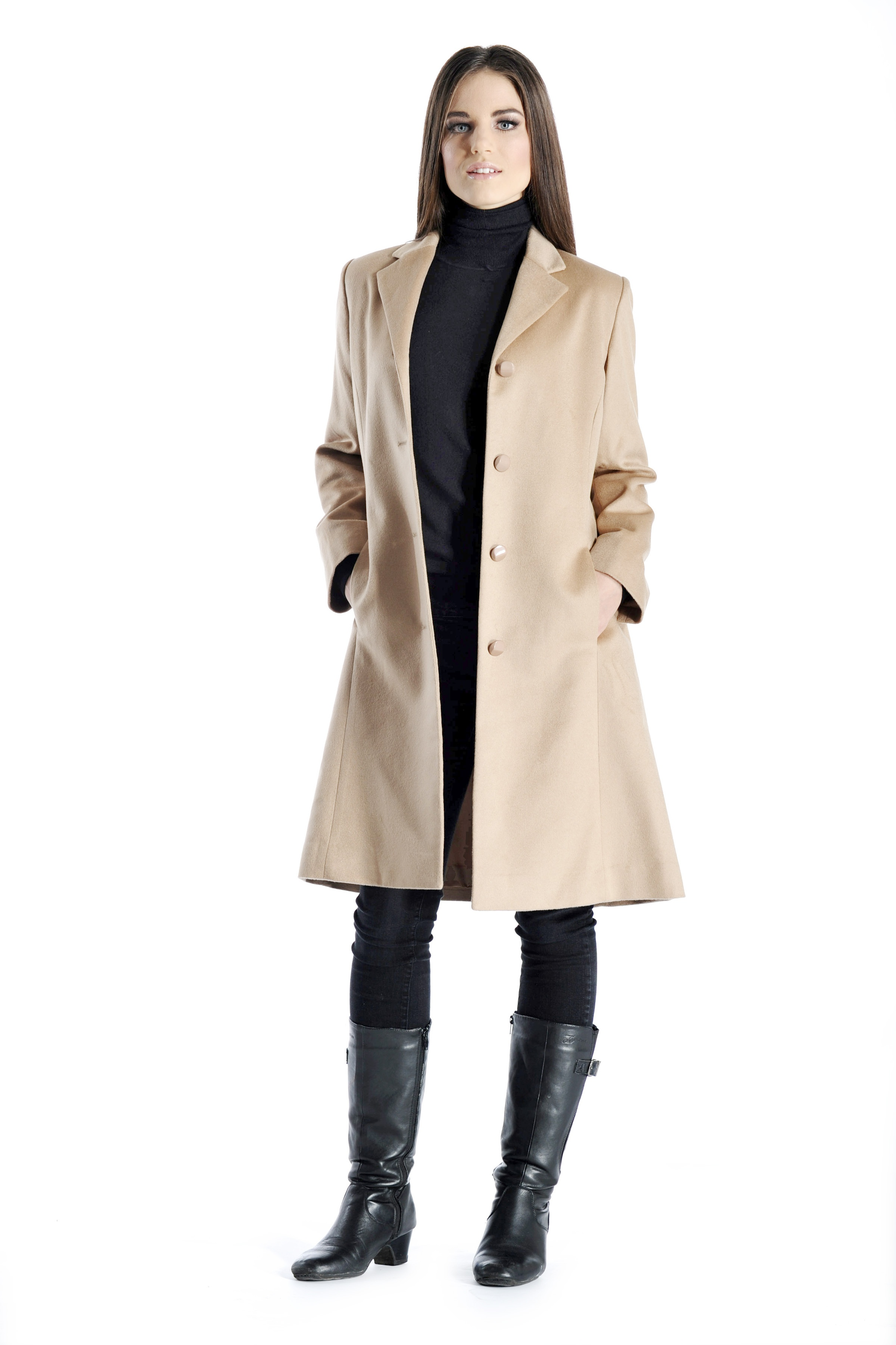 Cashmere Boutique Women's Knee Length Overcoat in Pure Cashmere at Sears.com