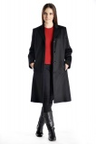 Pure Cashmere Knee Length Overcoat for Women